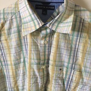 Button down Tommy Hilfiger shirt. Size large